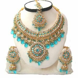 Indian Wedding Jewelry Set JVS-331 Image