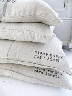 ♥ stone washed pure linen