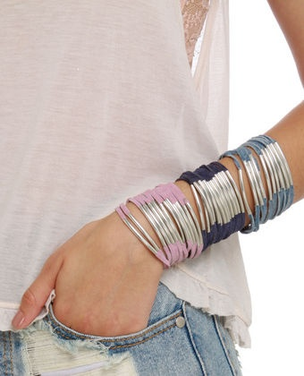 Zad Don't Cage Me In Suede Leather Bracelet