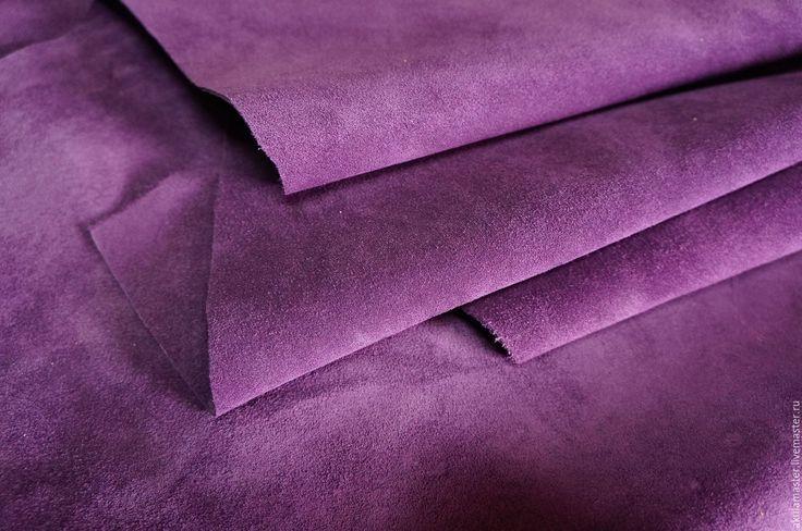 Купить или заказать Замша натуральная фиолетовая. Лоскут. в интернет-магазине на…