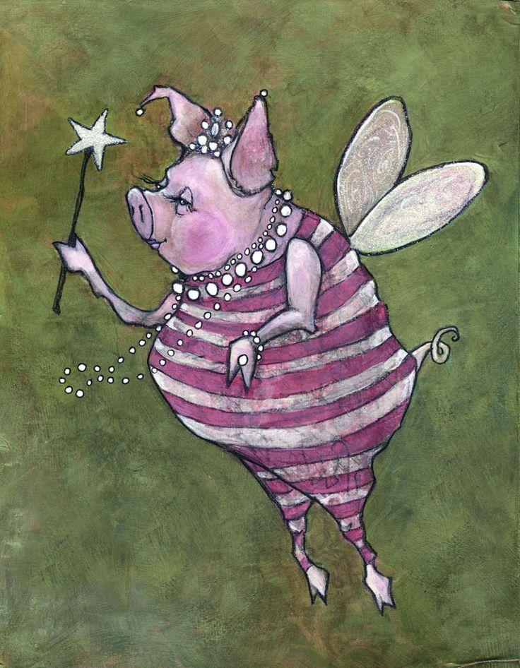 Открытки признание, прикольные рисунки про свинью