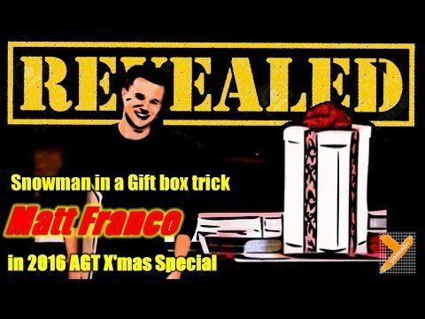 Reveal: Matt Franco (Snowman Trick) Svengali Deck in AGT 2016 X'mas Show: America's Got Talent 2016 Matt Franco Demystified (Magic…