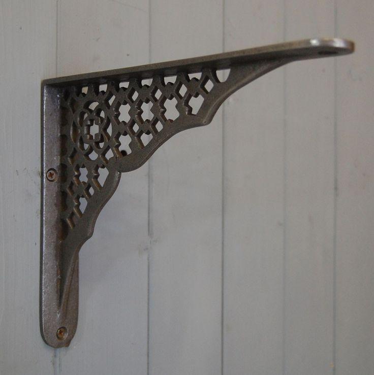 Hove art deco design cast metal shelf bracket
