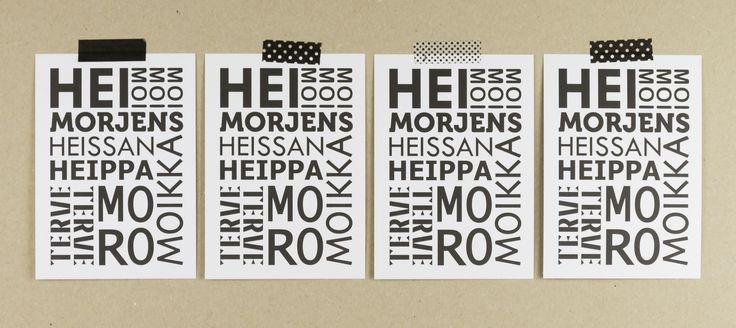 Muumuru postcard: Hei Morjens