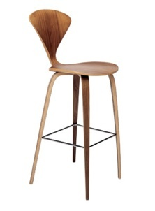 Nice wooden non-swiveling counter stool with back (no arms)