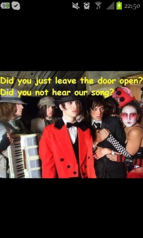 Lol Panic! at the Disco. I write sins not tragedies