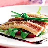 Recept - Salade van paling met appelstroop - Allerhande