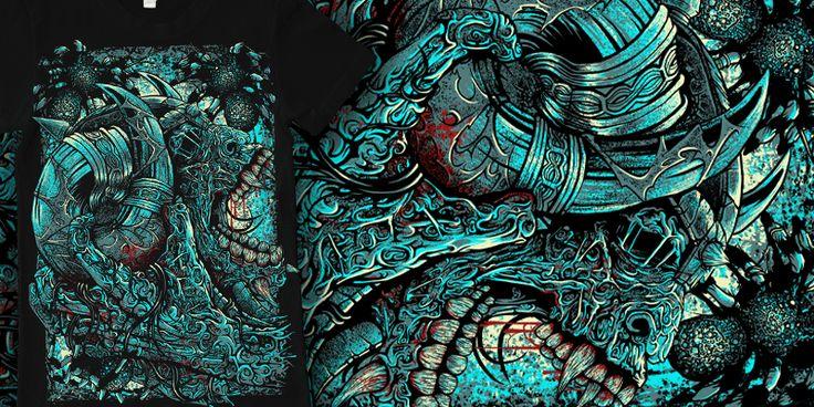 """resurrect"" t-shirt design by burntilldead"