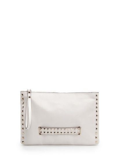 MANGO - Studded leather clutch (in black too)