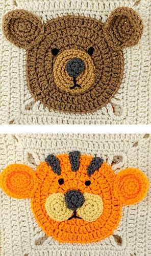 Ravelry: Lions and Tigers and Bears Blanket pattern by Michele Wilcox