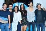 Varun Dhawan, Huma Qureshi, Nargis Fakhri, Arjun Kapoor, Yami Gautam and other celebs made merry at the wrap up bash of upcoming film 'Badlapur' at a night spot at Bandra
