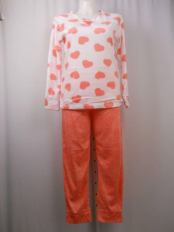 Women Pajama Set PLUS SIZE 3X SECRET TREASURES Microfleece Hearts Long Sleeve #SECRETTREASURES #PajamaSets #Everyday