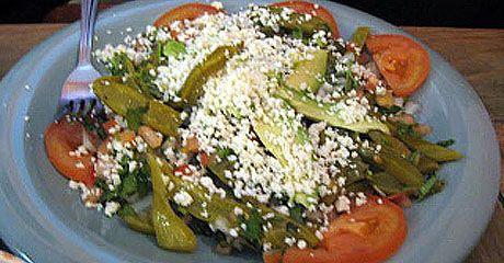 Salad using jarred nopalitos (cactus)