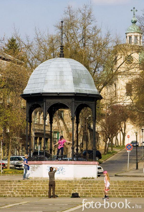 Vác, Hungary (Zenepavilon a Duna parton)