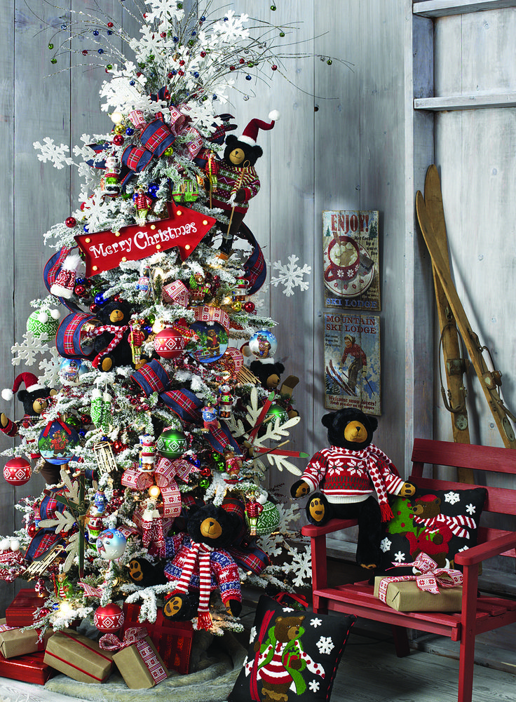 Ski Patrol Christmas Tree By RAZ Imports