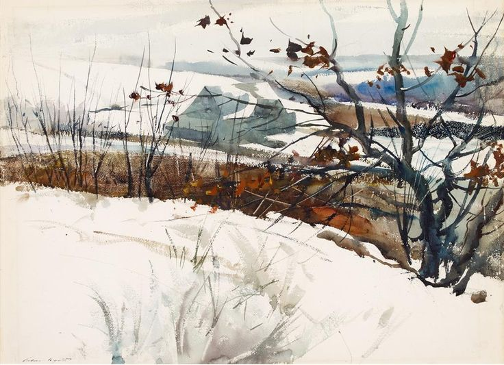 ALONGTIMEALONE: lawrenceleemagnuson: Andrew Wyeth (USA 1917-2009)...