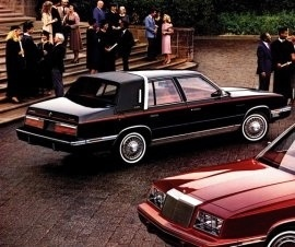 1983 Chrysler New Yorker - my mom bought one of these that later became mine.  Was pretty luxurious for the price and had a talking computer voice that was really cool.