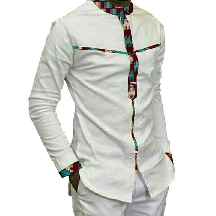 Africa Festive Clothing Ankara African Print Tops Long Sleeve Print African Men Fashion African Shirts For Men African Attire For Men