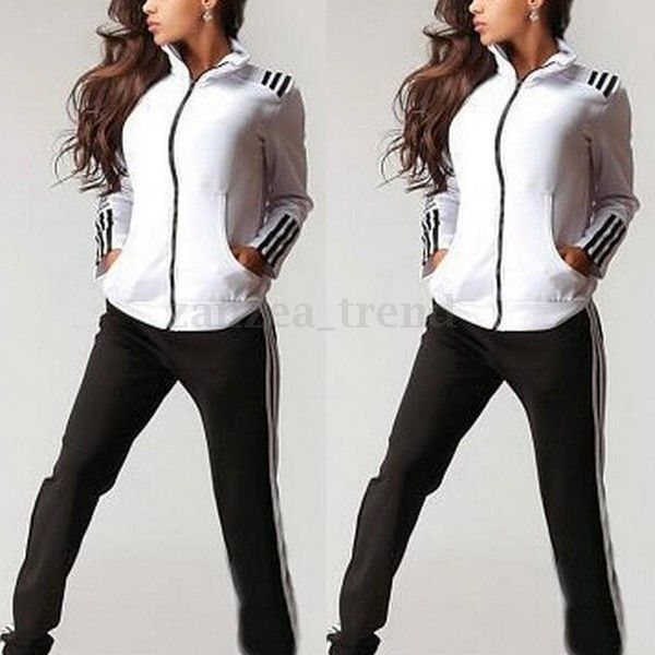 femme 2pcs hauts pants hoodie sweatshirt pantalon surv tement sport suits blouse ebay. Black Bedroom Furniture Sets. Home Design Ideas