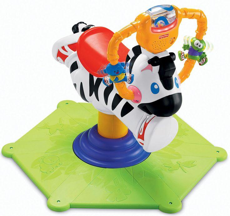 Fisher Price - Bounce & Spin Zebra (K0317)  Manufacturer: Mattel Barcode: 027084372496 Enarxis Code: 015553 #toys #Mattel #Fisher_Price #zebra #bouncer