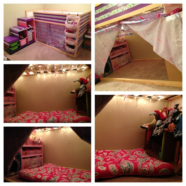 Our kura bed make over. Kura from ikea turned awesome.
