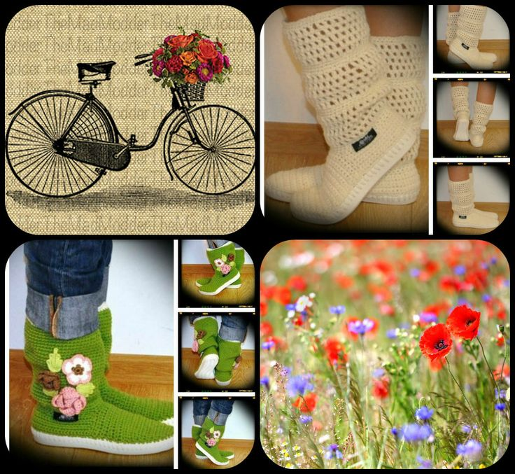 crochet boots Uki