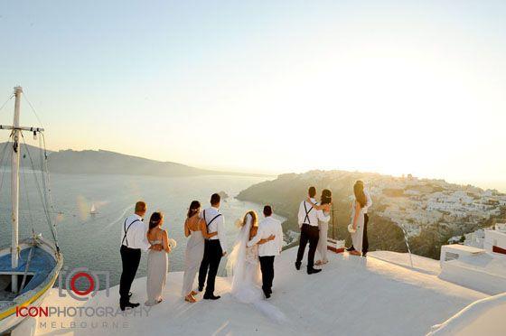 Bridal Party - Santorini Wedding Greece