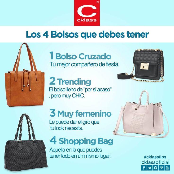 Aunque nos encantaría tener todos los bolsos del mundo, existen algunos que son imprescindibles para cada ocasión #CklassTips, te dice cuáles son los clave para estar adhoc en cada ocasión. www.cklass.com