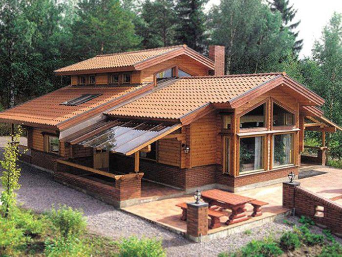 Casa De Madera San Sebastian 120m2 Casa De Madera Rustica Modelos De Casas Rusticas Casas Prefabricadas Planos De Casas