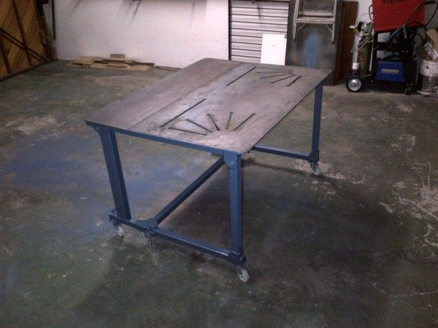 My folding welding table welding pinterest welding for Plan fabrication table