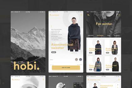 Hobi – Free Mobile App UI Kit