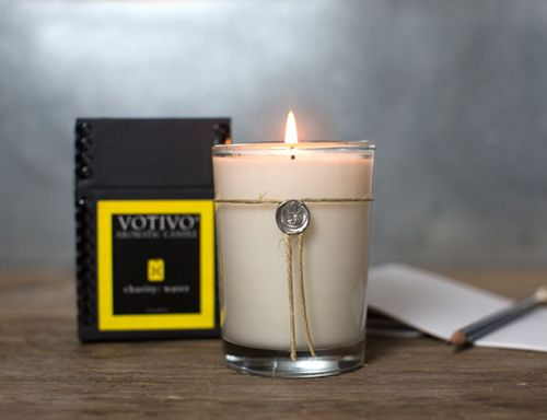 The Votivo candle is one of many cool finds sold by Charity Water.