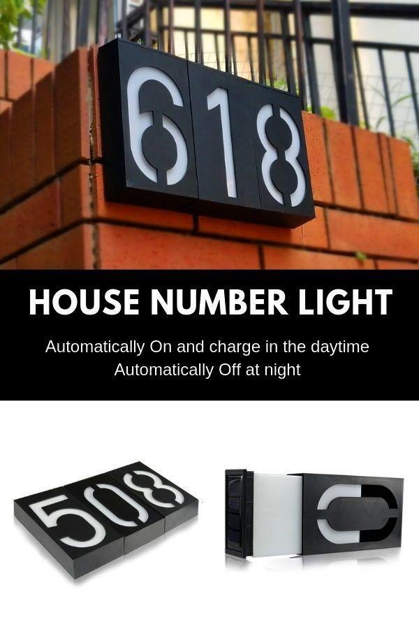 Illumination Powered L6leds Lights Number House Solar Mount