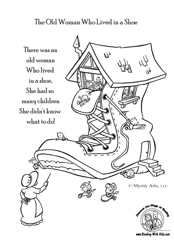 Mother Goose Nursery Rhymes Coloring Pages