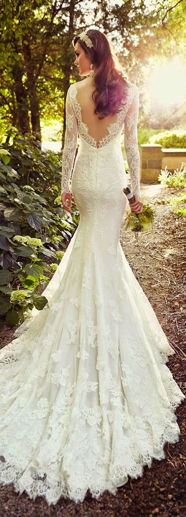 Une robe de mariée sirène