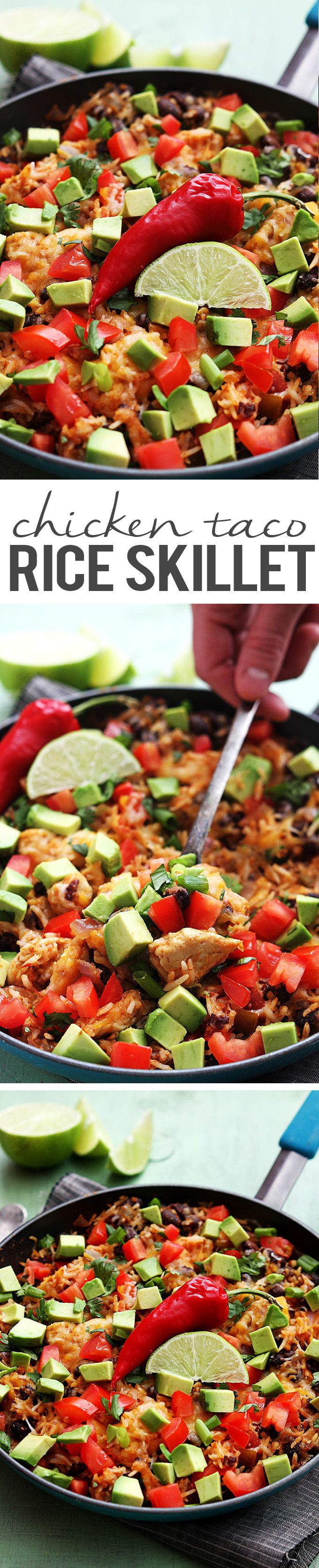 An easy one-pan dish with yummy Tex-Mex flavors. The rice, chicken ...