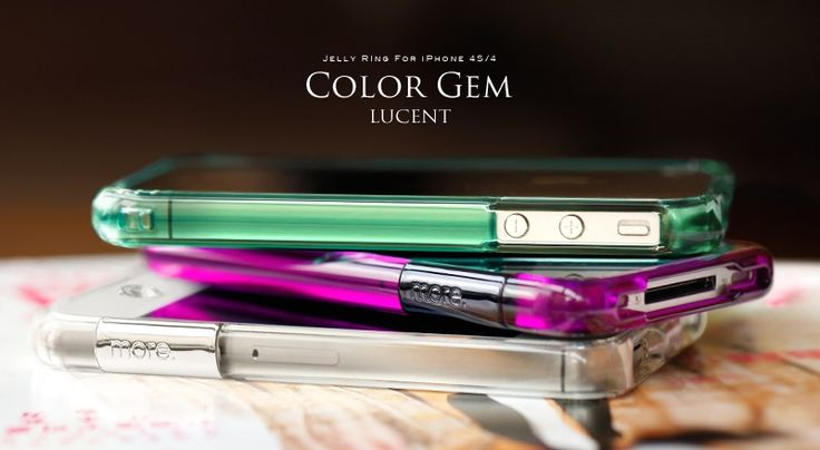 Color Gem Lucent Jelly Ring for iPhone 4S - a iphone cases designed by more-thing.com which lets your iPhone shines