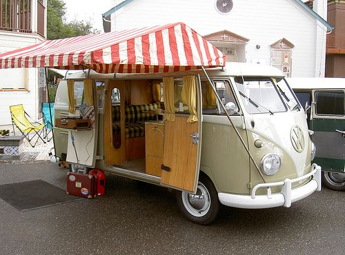 this is the cutest thing ever...I can see myself go camping with this bus