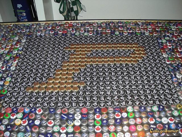 Purdue beer pong table!: Beer Cap, Bottle Cap, Beer Bottle, Purdue Beer, Mancave, Beer Pong Tables, Photo