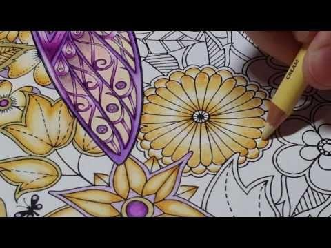 Illustration By Johanna Basford Media Used Prismacolor Premier Colored Pencils Goldenrod Jasmine Cream And Slicci Metallic Gel Pen Purple