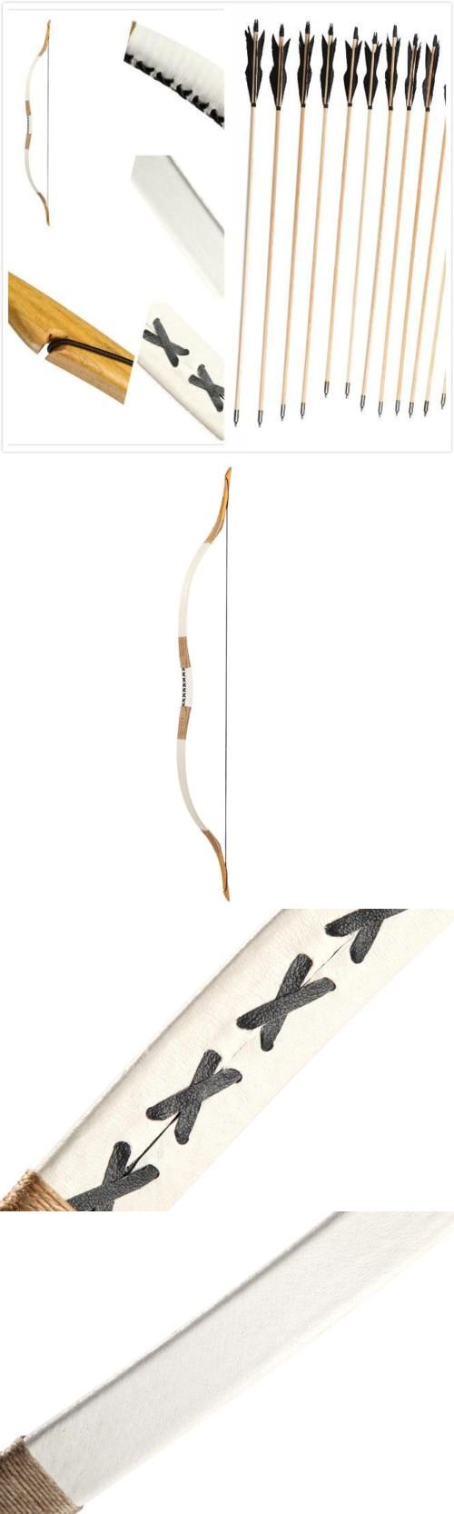 Longbows 181294: Archery Set Traditional Pigskin Longbow Recurve Bow 20Lb-110Lb +12 Wooden Arrow -> BUY IT NOW ONLY: $99.99 on eBay!