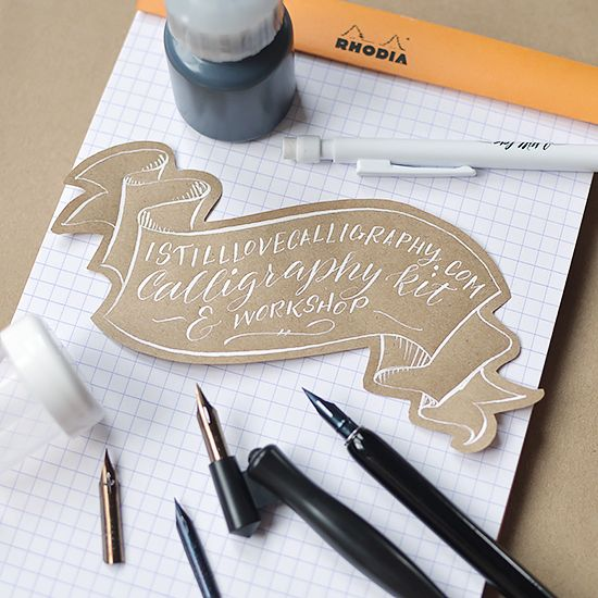 I've decided I want to learn calligraphy and this might be the way to do it!..... Calligraphy Kit and Workshop