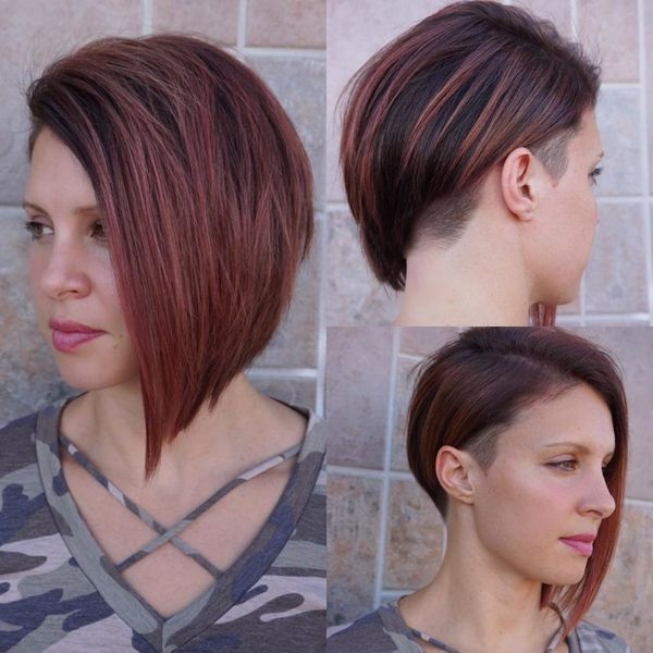 30 Ideas Of Women S Undercut Hairstyles Checopie Asymmetrical Bob Haircuts Bobs Haircuts Bob Hairstyles