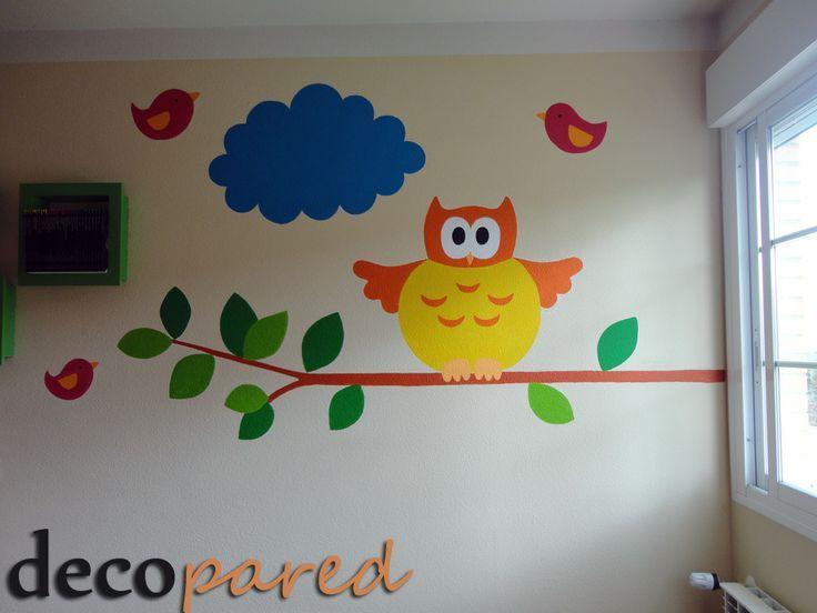 Pin de nuria sanz gonz lez en buhos pinterest murales - Percheros infantiles de pared ...