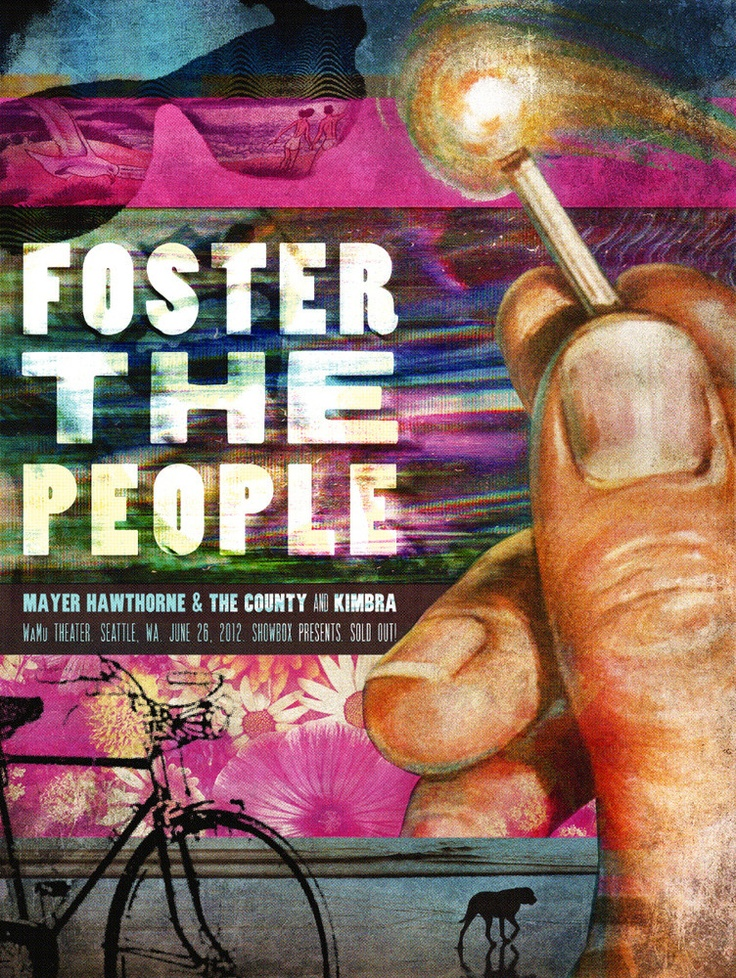 Jon Smith's Foster The People Poster: Rock Posters, Band Poster, Gig Posters, Posters 000, Music Posters, Jon Smith, Foster The People