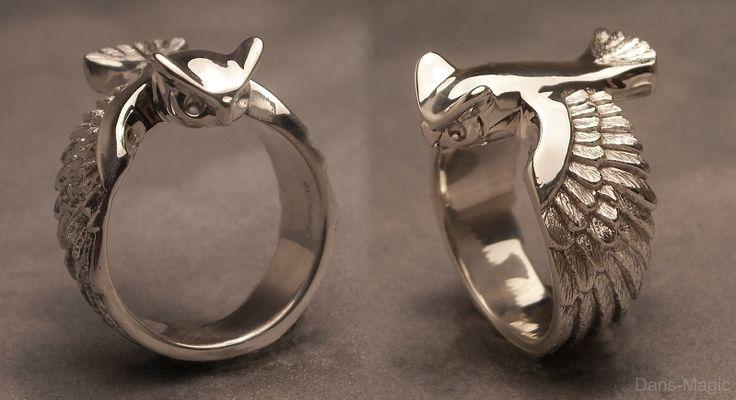 Great horned owl ring by Dans-Magic.deviantart.com on @deviantART