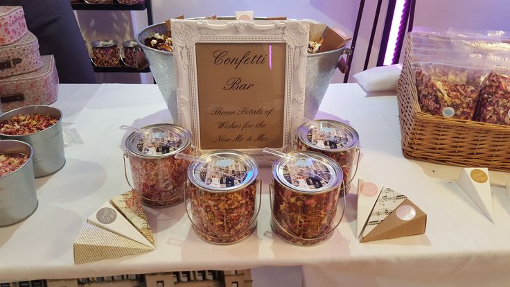 Complete Luxury Confetti Bar Real Natural Wedding Petals