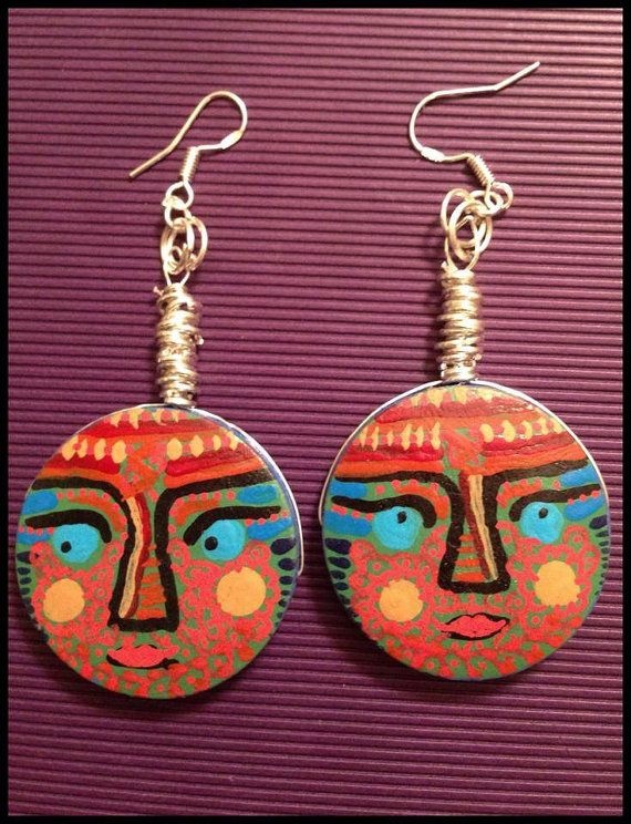 """ANAO earrings """"I ASPIRE""""  - handcrafted, handpainted on Etsy, 180,00kr"""