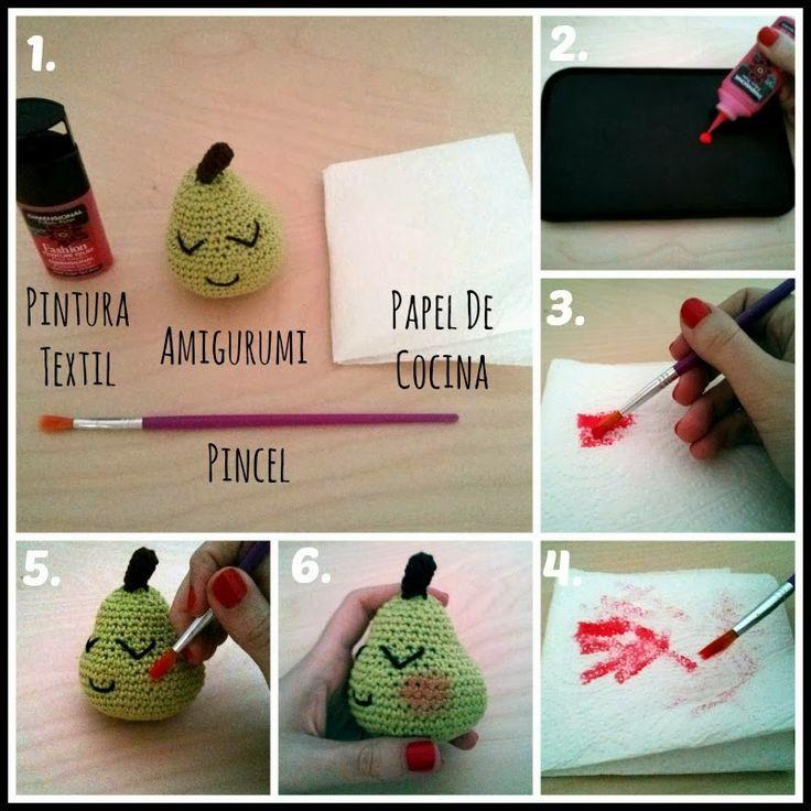 Cómo Pintar Coloretes a tu Amigurumi ~ Tutorial en Español