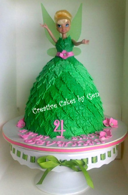 Tinkerbell Doll Cake Design : 1000+ ideas about Doll Cakes on Pinterest Barbie Cake ...